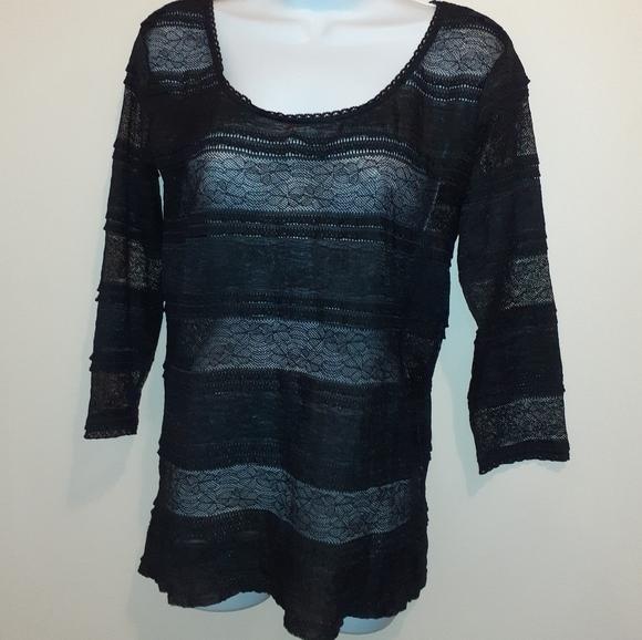 👚3 for $25👚 Jockey Lace Black Blouse🇨🇦  Medium